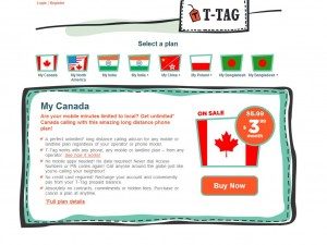 A screenshot of T-Tag Monthly Subscription Plans page