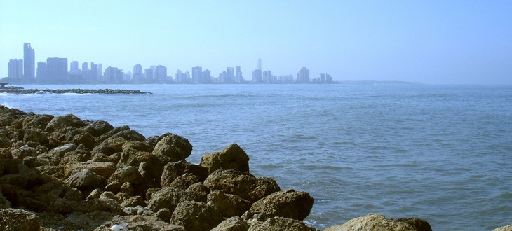 Cartagena sea and city view